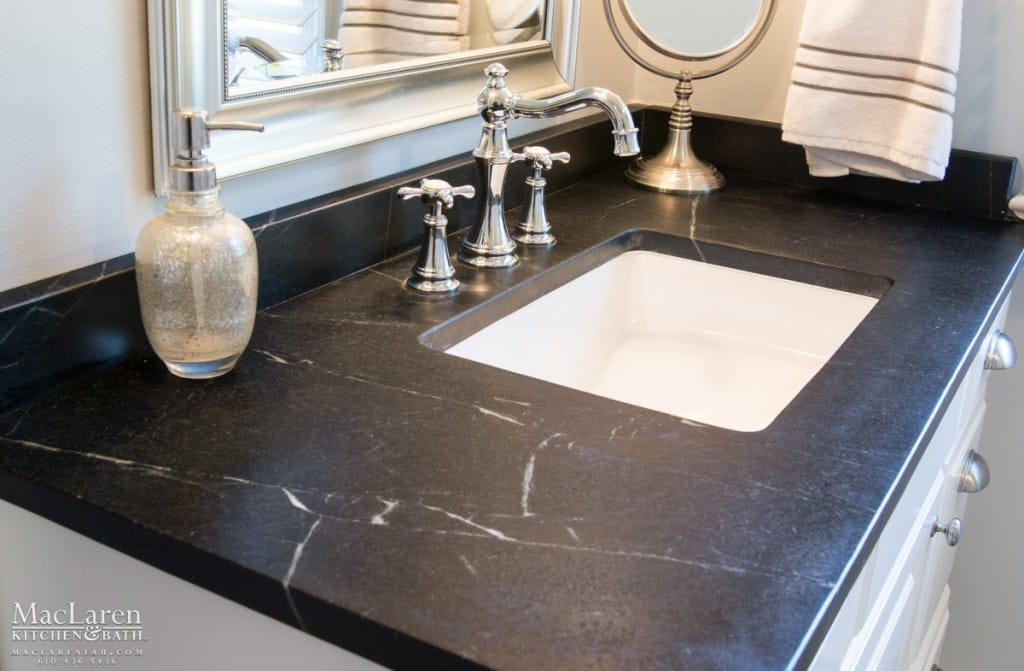 Classic Black White Master Bathroom Newtown Square Pa Maclaren Kitchen And Bath