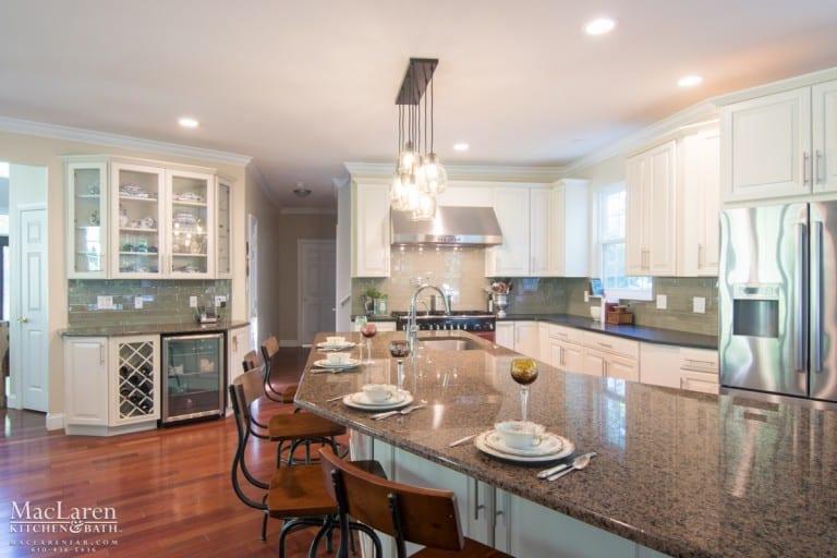 Custom Island Countertop to match an Angular Kitchen Design
